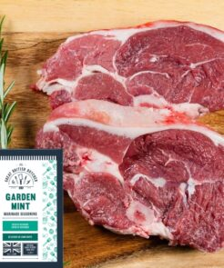 lamb steaks with mint marinade