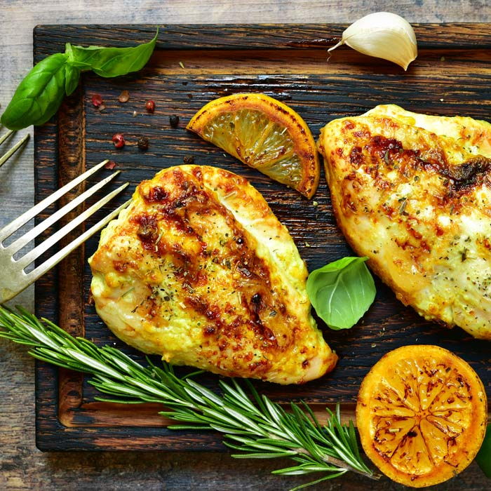 Lemon and herb crusted chicken breast fillets