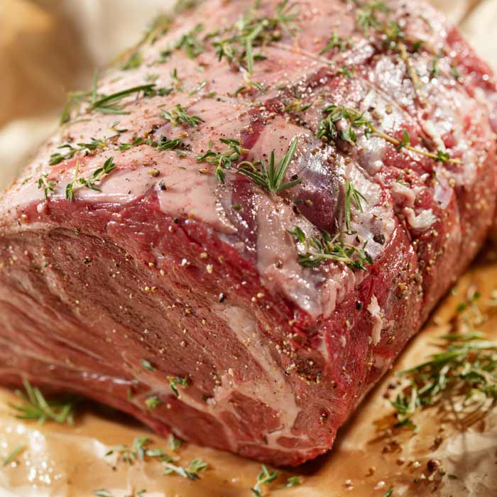 Rolled sirloin joint